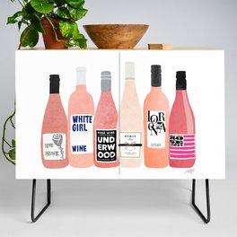 Rose Bottles Credenza