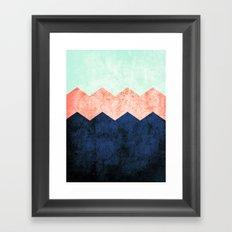 triple chevron (2) Framed Art Print
