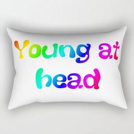 Young at head t-shirt Rectangular Pillow