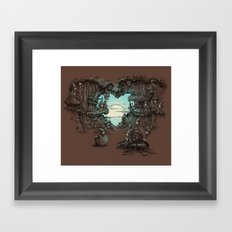 There's a gap next door Framed Art Print