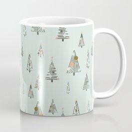 Modern Minimal Christmas Trees Mint Coffee Mug