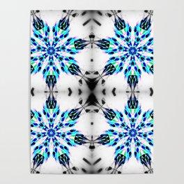 Enchanted Frozen Snowflakes Poster