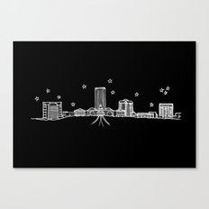 Tallahassee, Florida City Skyline Canvas Print