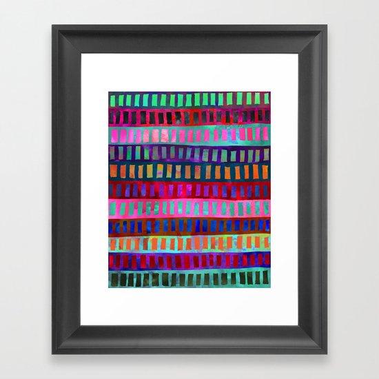 PATTERN {Geometric 001} Framed Art Print