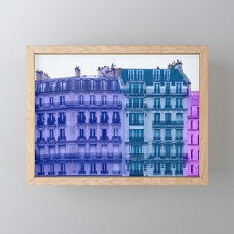Colorful Paris Buildings Framed Mini Art Print