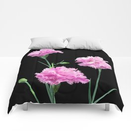 Pinks on Black Comforters