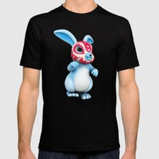 Lucha Rabbit-Blue Brother Mens Fitted Tee SMALL Black