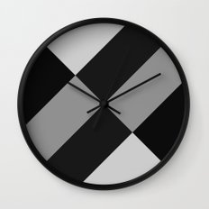Angled Black and Gray Gradient Wall Clock