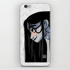 Black hair iPhone & iPod Skin