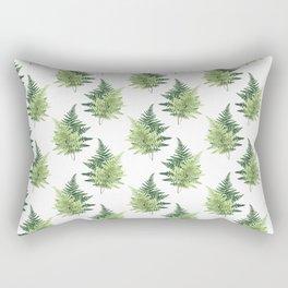 Summer Forest Ferns Rectangular Pillow