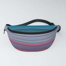 Blurry Saturn Stripes Fanny Pack