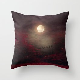 Red Sounds like Poem Throw Pillow