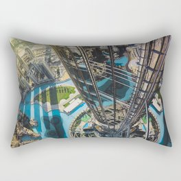 Dubai from the tallest building in the world Rectangular Pillow