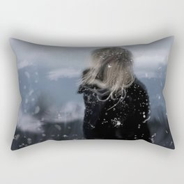 Contemplating on a cold day Rectangular Pillow