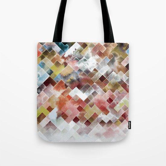 Moody watercolor patchwork  Tote Bag