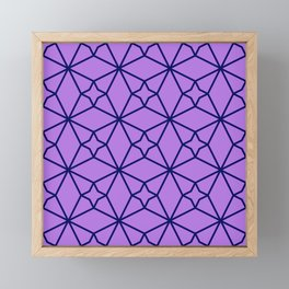 Lilac Geometric Pattern Framed Mini Art Print