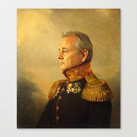 a lot of cats Canvas Prints featuring Bill Murray - replaceface by replaceface