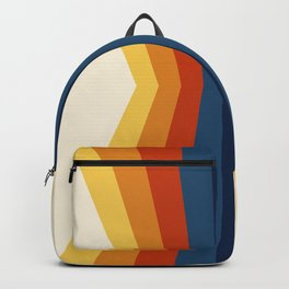 Bright 70's Retro Stripes Reflection Backpack
