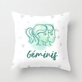 Zodiac signs collection - Gemini/Geminis Delvallediseno Throw Pillow