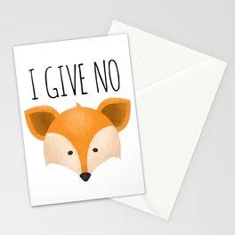 I Give No Fox Stationery Cards