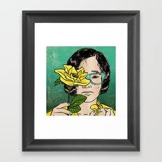She loves me not... Framed Art Print