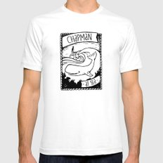 Chapman at Sea White Mens Fitted Tee SMALL