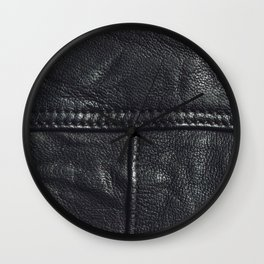 Leather texture Wall Clock
