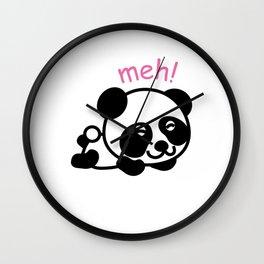 Sleepy Panda Funny Tired Bear Wildlife Sleepy Head Lazy Animals Gift Wall Clock