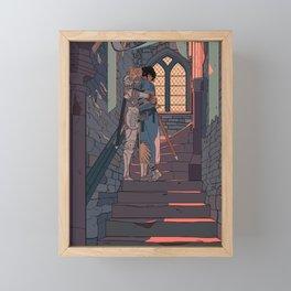 Secret and Sad farewell Framed Mini Art Print