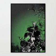 GREEN BASS Canvas Print