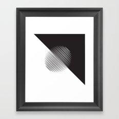Black And White Ball Of Stripes Framed Art Print