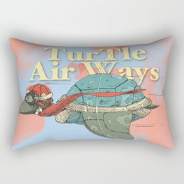 Turtle Air Ways, The flying turtle! Rectangular Pillow