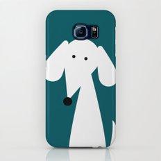 White Dachshund - Turquoise  Slim Case Galaxy S7