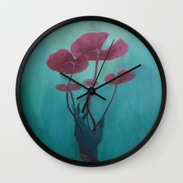Drowning Lily Wall Clock