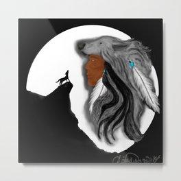 Coyote Moon Metal Print
