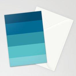 Blue ocean palette Stationery Cards