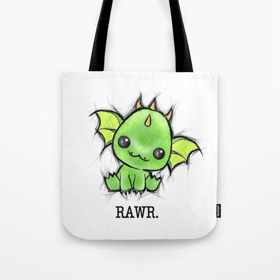 Baby Dragon Kawaii Tote Bag