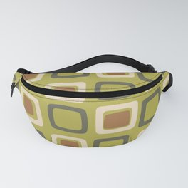 Mid Century Modern Squares Chartreuse Fanny Pack