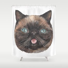 Der the Cat - artist Ellie Hoult Shower Curtain