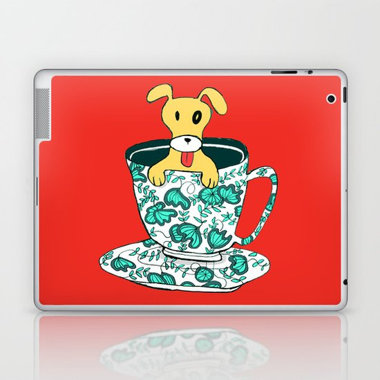 Dinnerware Sets - puppy in a teacup Laptop & iPad Skin