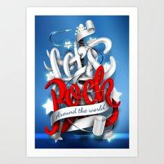 Let's Rock Around The World Art Print