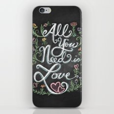 All You Need is Love Chalkboard Art iPhone & iPod Skin