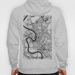 Dusseldorf Map Gray Hoody