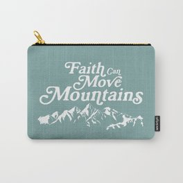 Retro Faith can Move Mountains Carry-All Pouch