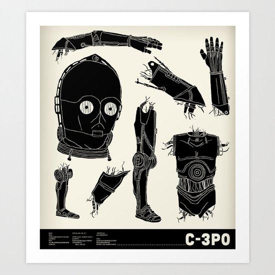 Decommissioned: C-3P0 Art Print