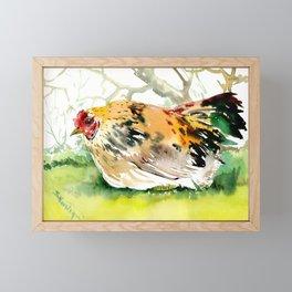 Chicken, Farm animal art chicken in the farm Framed Mini Art Print