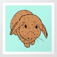 Benny Bunny Goes Pop Art Print