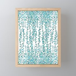 string of pearl watercolor Framed Mini Art Print