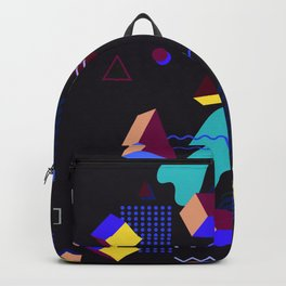 Memphis group inspired 80s pattern Backpack