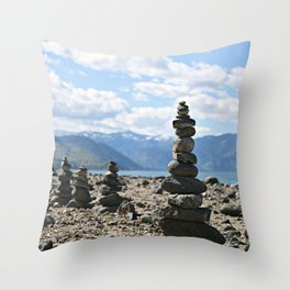 Chelan Rock Stacks Throw Pillow